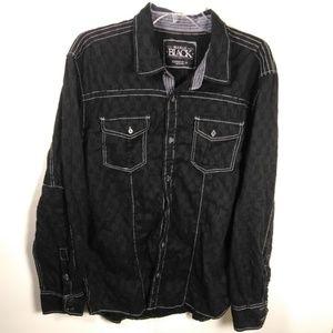 Buckle Black Label Standard Fit Button Up SZ XL